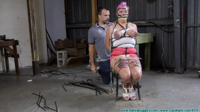 Suspended Ziptied Tit Whipping For Nova Pink