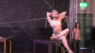 Description Another public Breast Suspension for Little Red Girl - HD 720p