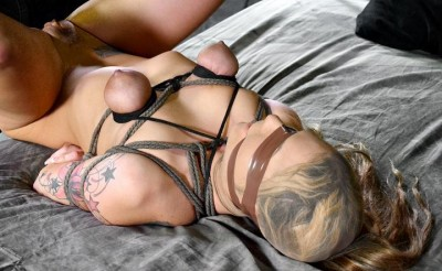 Description Sexy blonde Dahlia Sky does epic deep throating while bound and blindfolded
