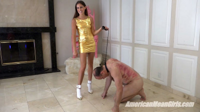 Kicking Princess Bella's Slave