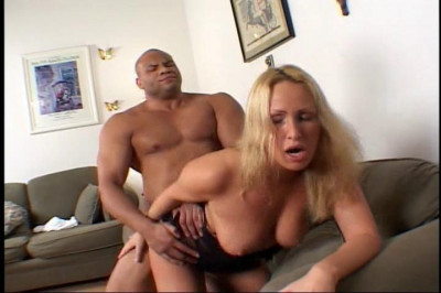 Two big black cocks for Mandy Bright
