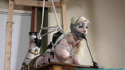 Description Olivia Rose Hogtied and Pump Gagged Tight