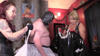 Mistress Erika And Julia's Stocking Slave - Feminisation