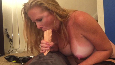 Description Becca Fucking my new inch dildo