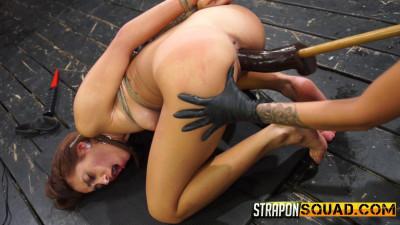 Description StraponSquad Marina Angel Endures Lesbian Domination Threesome