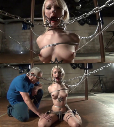 Super bondage, domination and torture for sexy young blonde