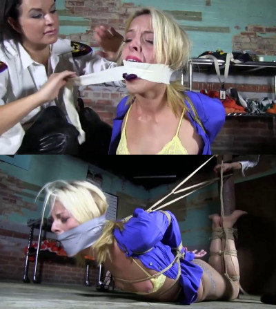 Bondage, torment, strappado and hogtie for young blonde (part 2)