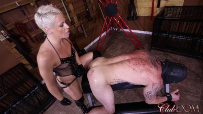 Domina Helena - Black Strap-On Cock Fucking
