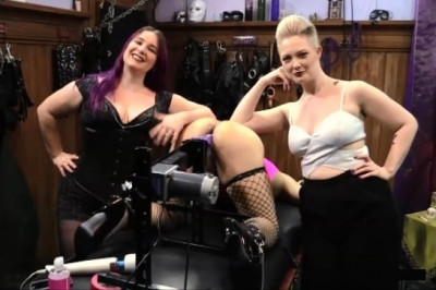 Sissy Fucking Machine Humiliation – FemDom Threesome With Denali Winter