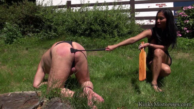 Outdoor cp with mistress nina
