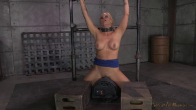 Description Big breasted bimbo Milf Holly Heart shackled to a sybian
