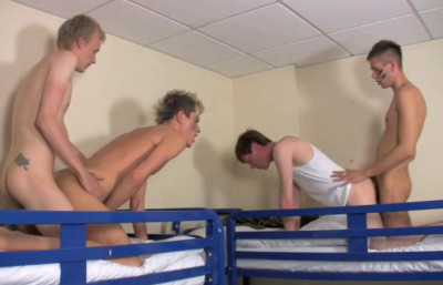 Description Young Cadets Breback With Group Sex