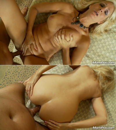 Description 53 year old hot blonde cougar's first porn