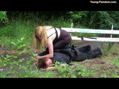 Young-femdom - Man in the park