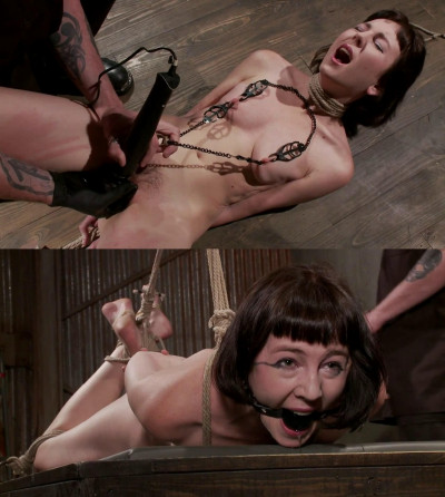 Tight bondage, hogtie, strappado and torture for hot bitch part 1