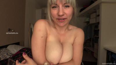 Horny big boob russian milf change bra