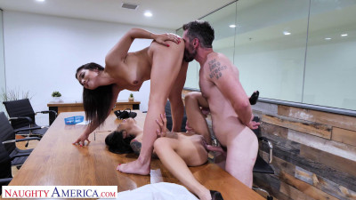Avery Black & Brooklyn Gray Fuck Their Boss on Labor Day