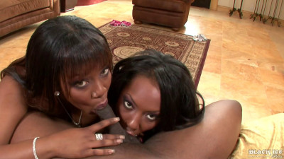 Dazz And Dominique Pleasures Lick Their Nipples Then Suck Dick