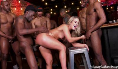 Candice Dare Likes Interracial Blowbang & Swallow