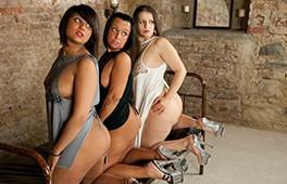 Three rampant lesbians