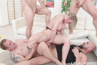 4on1 Manhandle Orgy With Double Anal For Big Tits Milf