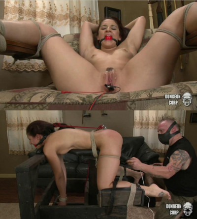 Tight bondage, spanking and torture for hot naked slavegirl part 2