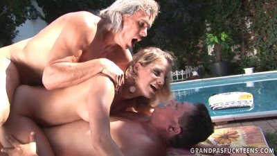 Nasty Laraan in the pool