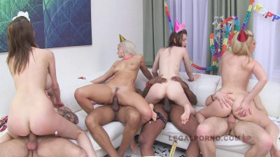 Best Babes In Birthday Anal Gangbang