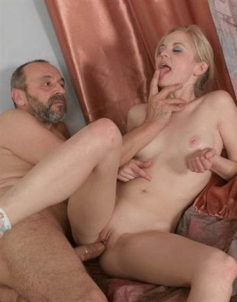 The adult man has had the beautiful blonde in a bottom
