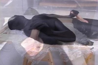 Wanking in spandex