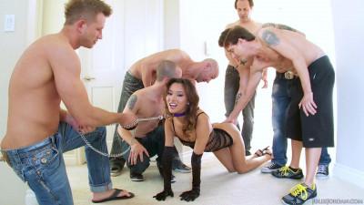 Alina Li Asian Teen Gets A 6 Cock Cum Cocktail