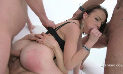 Russian Slut Rebecca Gangbanged By Huge Cocks & DP