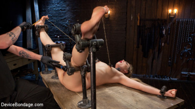 Description Sexy Blonde Whore is Brutalized in Grueling Bondage