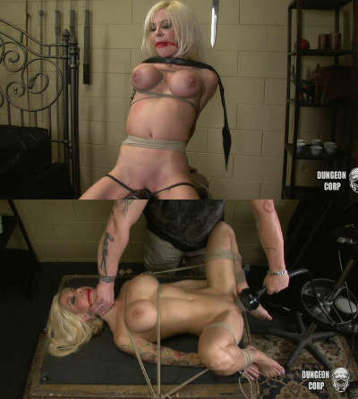 Super bondage, torture and spanking for sexy hot blonde part 2
