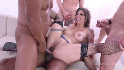 Lilly Veroni four on one Dap, 0% pussy, Piss drinking, deepthroat