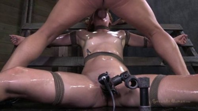 Pretty Redhead Claire Robbins Tied Down Vibrated