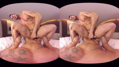 VirtualRealGay Vr180 - Tough Guys (Antonio Miracle and Mario Domenech; Flip Pov)