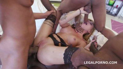 4on1 BBC Rough Gangbang With Double Penetration