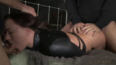 Krissy Lynn's Booming Breasts And Butt Straightjacketed And Roughly Fucked With Brutal Deepthroat