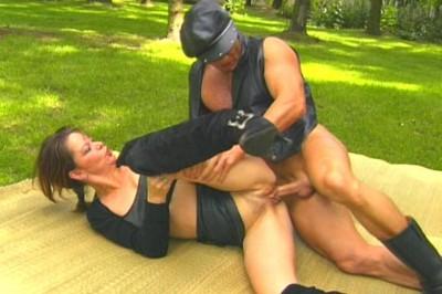 Bandaged fucker and mature slut