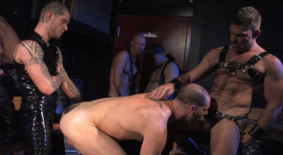 Leather Fuck With Group Sex