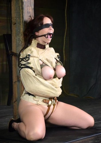 Ring Gagged, Blindfolded, Straight Jacketed, Inverted, Skull Fucked Slave