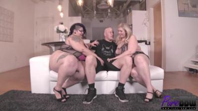 Crystal Blue & Lila Lovely – 2 horny roommates cheer up a sad guy