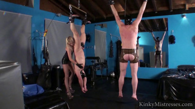 Kinky Mistresses - 2 Slaves For Cp