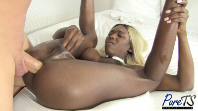 Black TS Barbie Kendall Gets Hammered & Creampied