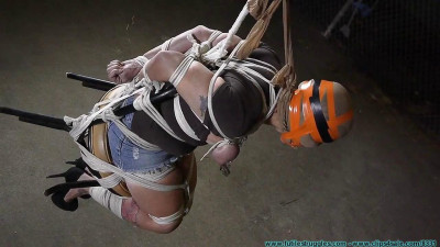 FutileStruggles - Brenda Chair Tied, Hooded, Breast Bound, and Hung