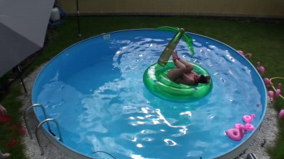 Hogtied On Float In Pool & Tormented