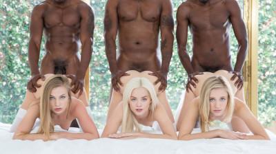 Elsa Jean, Rachel James, Sydney Cole – Three Blondes and Three BBCs (2016)