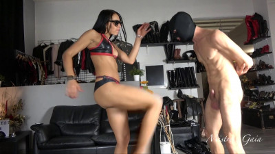 Mistress Gaia Kicking Your Sperm Out