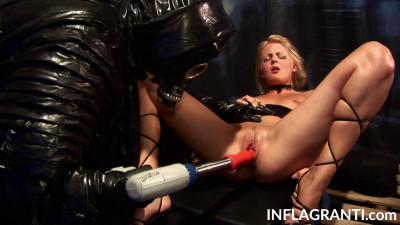 Chantal Anderson using a sex machine